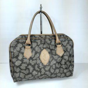 YVES SAINT LAURENT Brown Gray Zipper Handbag Speed